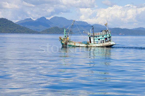 Vissersboot traditioneel thai klein Thailand Stockfoto © alexeys
