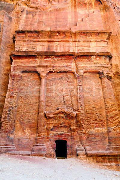 Starożytnych rock budynku pustyni podróży czerwony Zdjęcia stock © alexeys