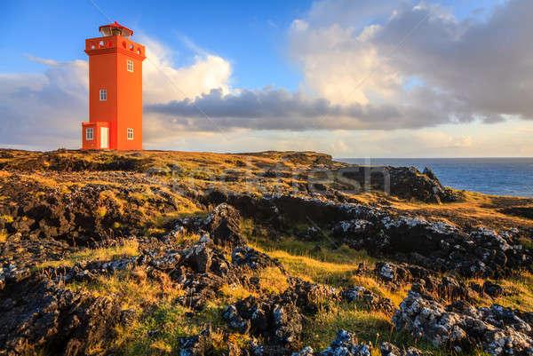 Orange lighthouse Stock photo © alexeys