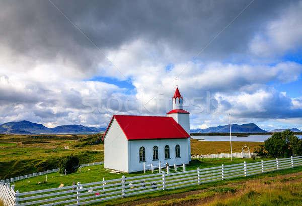 Icelandic church Stock photo © alexeys