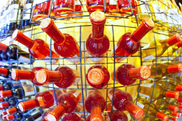 Bor bolt halszem kilátás kirakat üvegek Stock fotó © alexeys