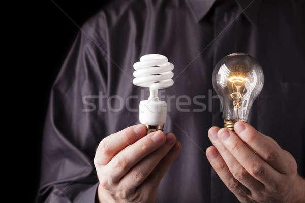 Enerji seçim floresan ışık Stok fotoğraf © alexeys