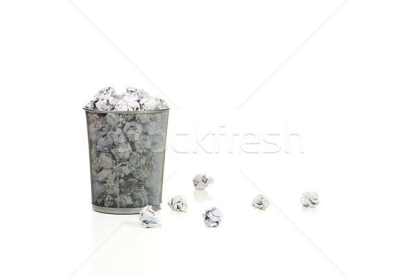 Residuos cesta metal papel Foto stock © alexeys