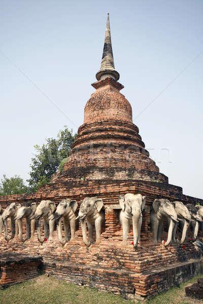 Ancient Thai temple Stock photo © alexeys