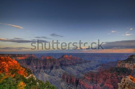 Grand Canyon naplemente észak peremszegély hdr kép Stock fotó © alexeys