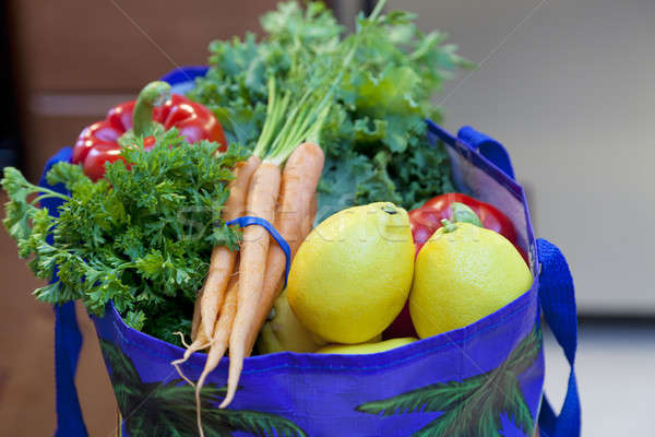 Fresh Produce in a Grocery Bag Stock photo © alexeys