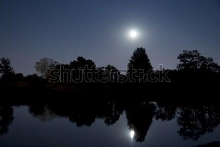 Moonrise over lake Stock photo © alexeys
