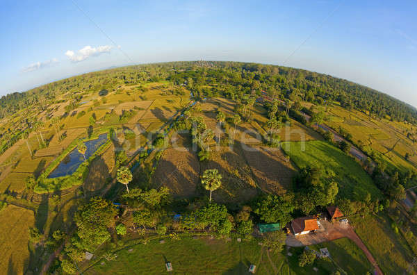 Aerial view of Cambodian countryside Stock photo © alexeys