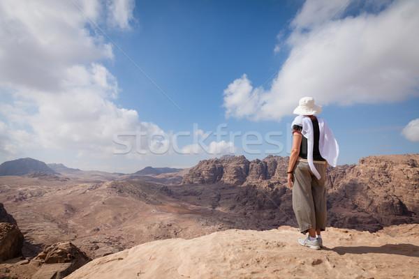 Hiking in Petra Stock photo © alexeys