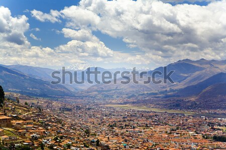Cusco overlook Stock photo © alexeys