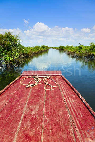 Traveling through Tonle Sap Lake Stock photo © alexeys