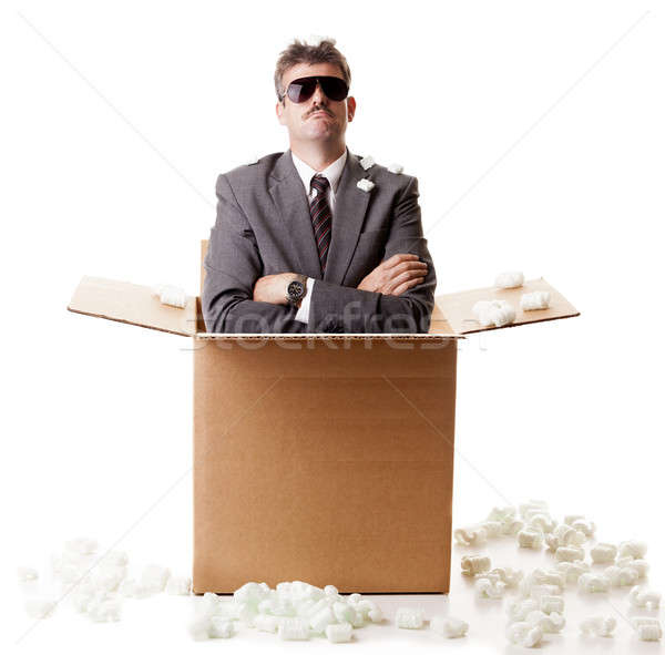 Businessman in a box Stock photo © alexeys