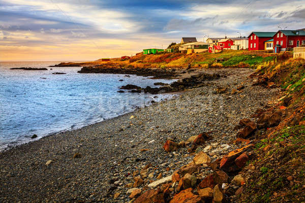 Icelandic fishing village Stock photo © alexeys