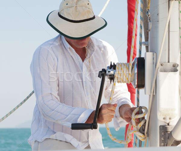 Raising the Sail Stock photo © alexeys