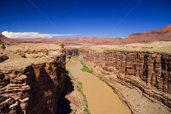 Colorado nehir kuzey Arizona muson sezon Stok fotoğraf © alexeys