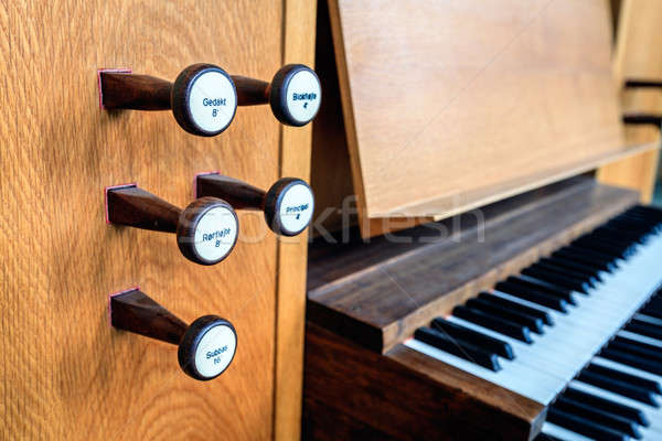 Church organ keyboard Stock photo © alexeys