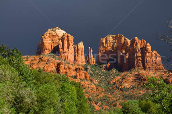 Red Rocks before the storm Stock photo © alexeys