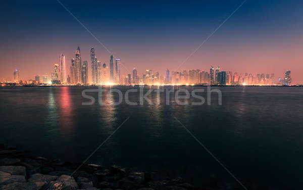Modern city skyline Stock photo © alexeys