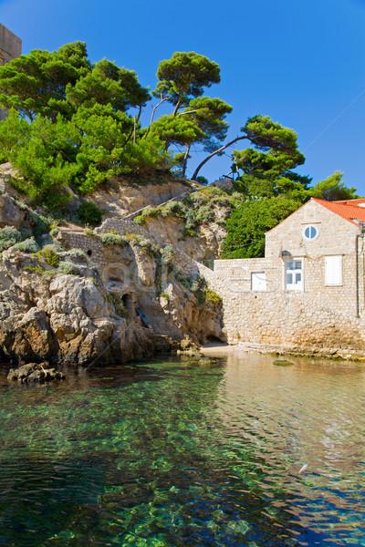 Kicsi öböl gyönyörű kép festői Dubrovnik Stock fotó © alexeys