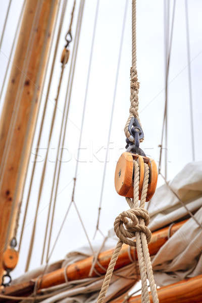 Sailboat rigging Stock photo © alexeys