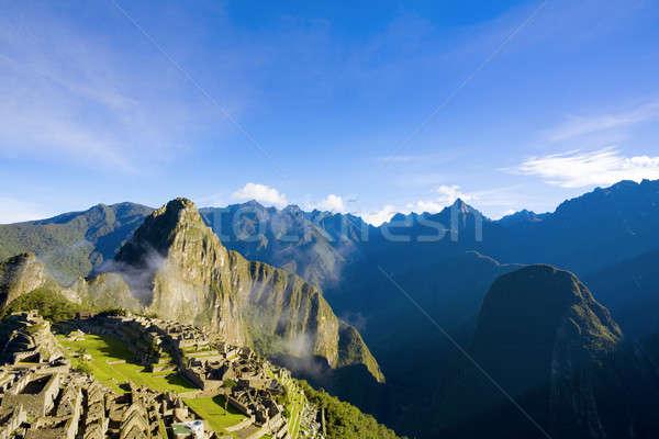 Machu Picchu manzaralı görmek sabah ışık şehir Stok fotoğraf © alexeys