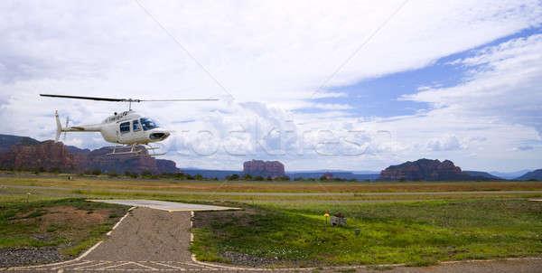 Аризона вертолета тур посадка аэропорту облака Сток-фото © alexeys