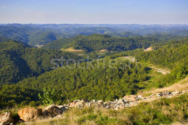 Kentucky alto ponto ver montanhas céu Foto stock © alexeys
