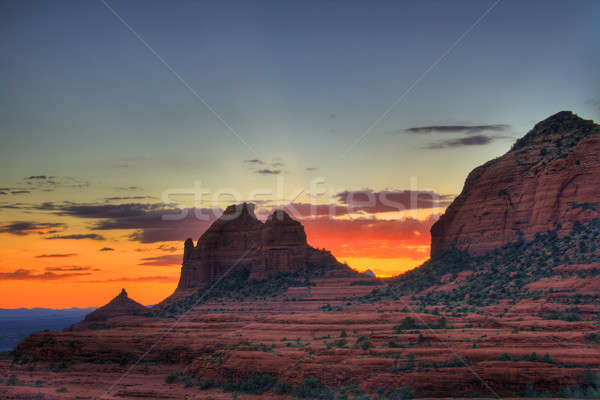 Red Rocks sunset Stock photo © alexeys