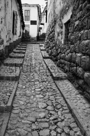 узкий улице старые центр путешествия архитектура Сток-фото © alexeys