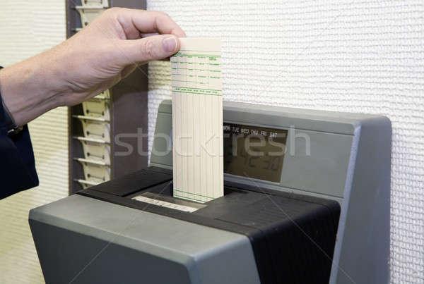 Temps carte travailleur automatique horloge affaires Photo stock © alexeys