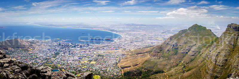 Stockfoto: Cape · Town · panoramisch · stad · kust · tabel