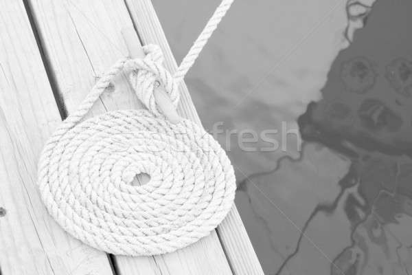 Coiled mooring line Stock photo © alexeys