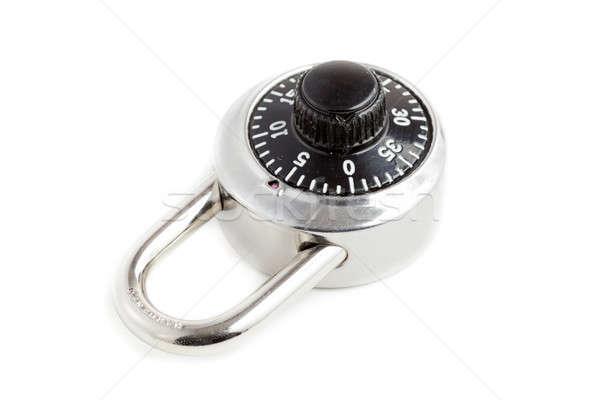 Fechamento de combinação imagem cadeado foco segurança Foto stock © alexeys