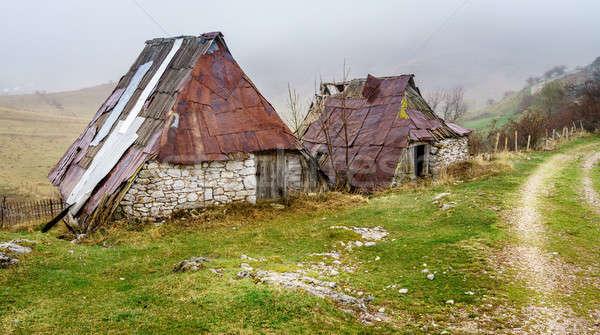 村 山 古い 空 道路 風景 ストックフォト © alexeys