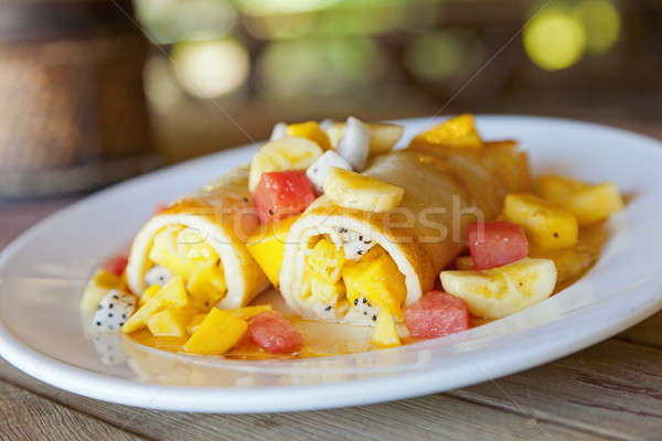 Fruit Crepes Stock photo © alexeys