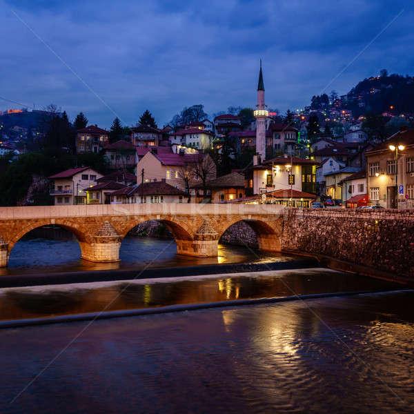 Sarajevo by night Stock photo © alexeys