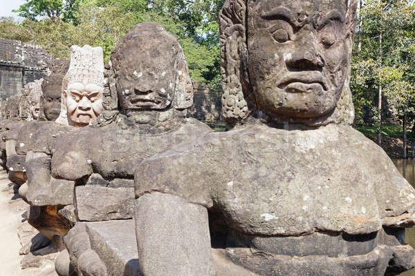 Angkor güney kapı şehir taş Stok fotoğraf © alexeys