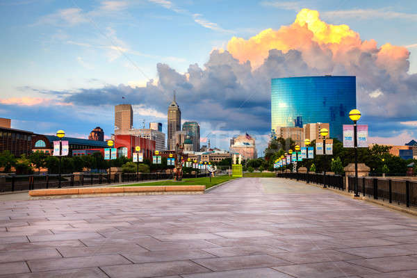 Indianapolis skyline Stock photo © alexeys