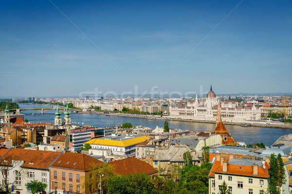 Budapest city center and the Danube River Stock photo © alexeys
