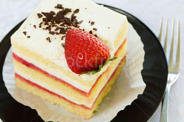 Strawberry cake Stock photo © alexeys
