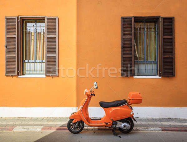 Orange scooter Stock photo © alexeys
