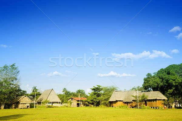 Peruvian village Stock photo © alexeys