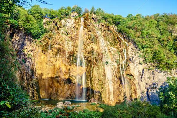 Cascade parc Croatie eau été vert Photo stock © alexeys