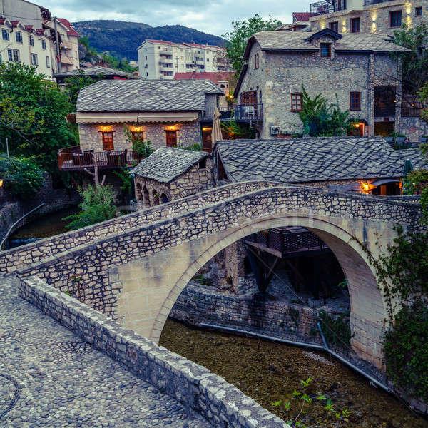 Historic city of Mostar Stock photo © alexeys