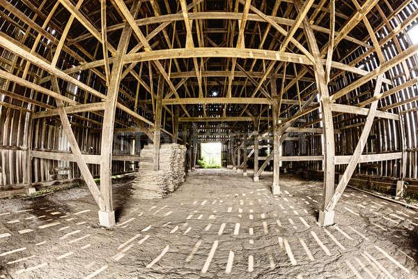 Csőr belső halszem kilátás fából készült űr Stock fotó © alexeys