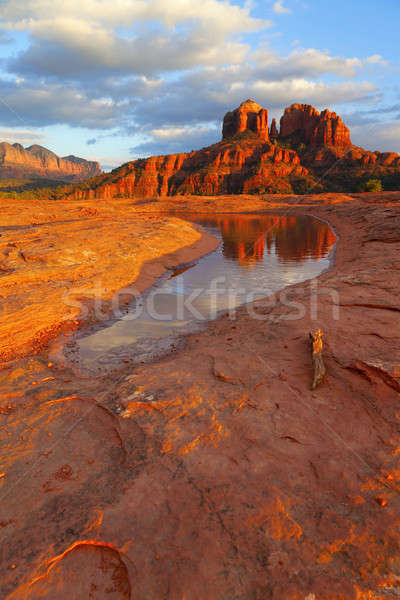 Cathedral Rock Reflection Stock photo © alexeys