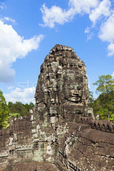 Faces of Bayon temple Stock photo © alexeys