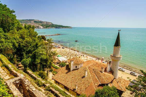 Fekete tenger festői kilátás part Bulgária Stock fotó © alexeys