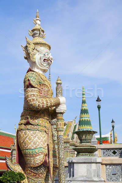 опекун демон статуя дворец Бангкок Таиланд Сток-фото © alexeys