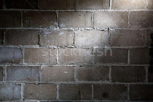 Parede holofote iluminação tijolo padrão Foto stock © alexeys